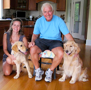 My father and me with Penny and Lilly